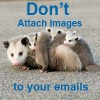 don't attach images to your emails