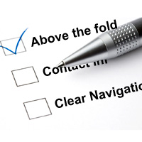 website home page checklist