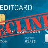 declined credit cards